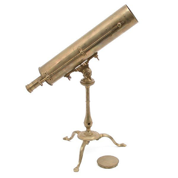 16: Brass reflecting telescope and stand, W & S Jones