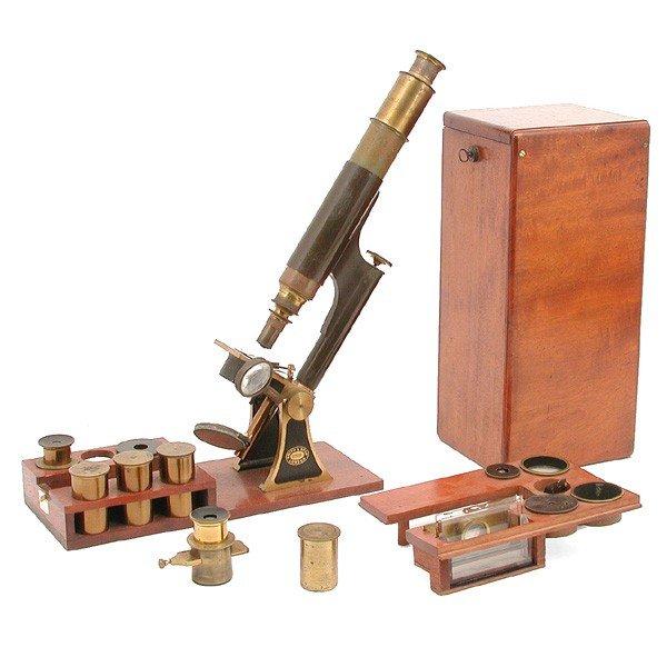 18: Smith & Beck traveling microscope, circa 1870