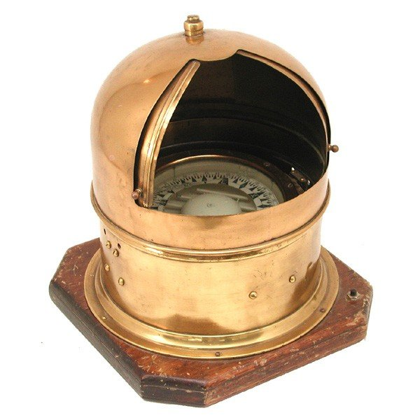 381: Brass A. Lietz  Co. binnacle with polished case