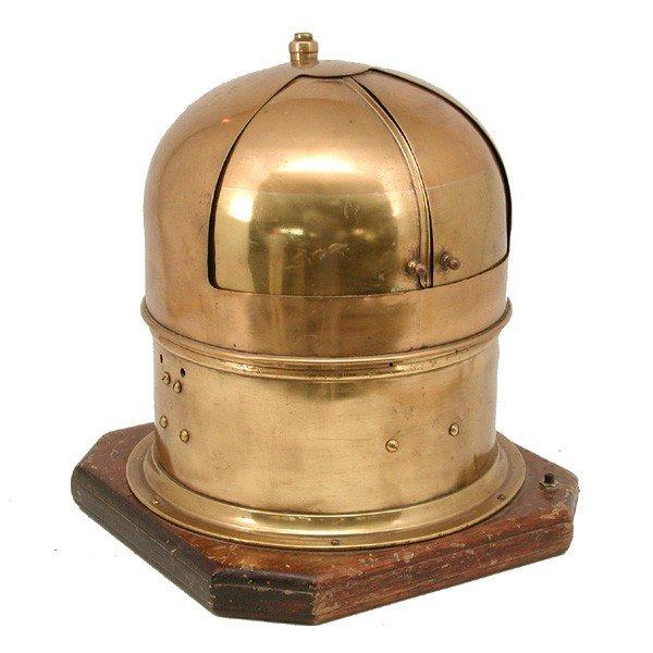 381: Brass A. Lietz  Co. binnacle with polished case - 2