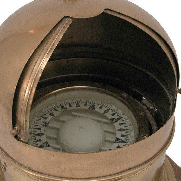 381: Brass A. Lietz  Co. binnacle with polished case - 3