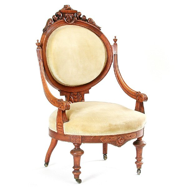 4: Upholstered Victorian Arm Chair