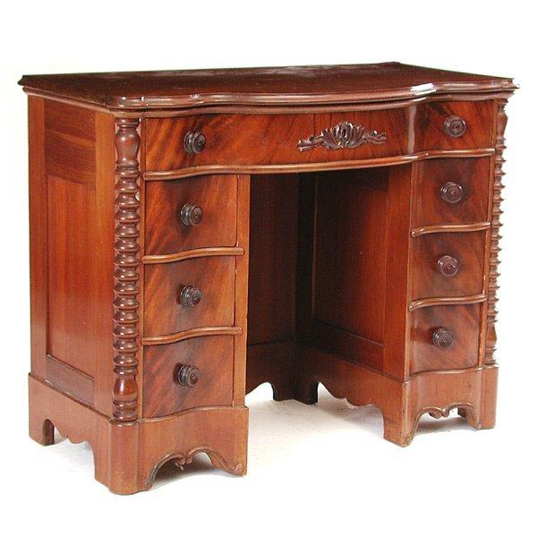8: Mahogany Spool Turned Writing Desk
