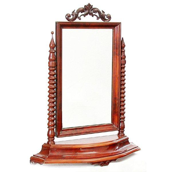 9: Mahogany Spool Turned Shaving Mirror