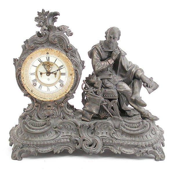 21: Ansonia Figural Clock, Shakespeare