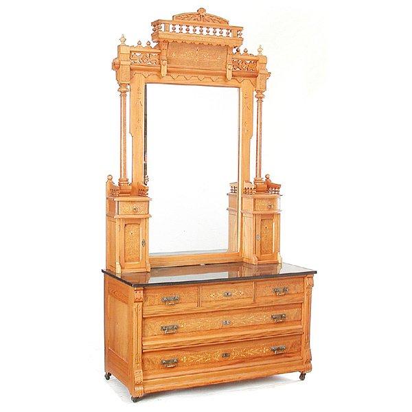 22: Eastlake Mirror Back Dresser