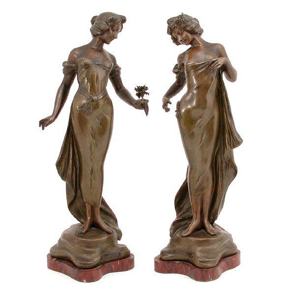 2: Art Nouveau Maiden Statues