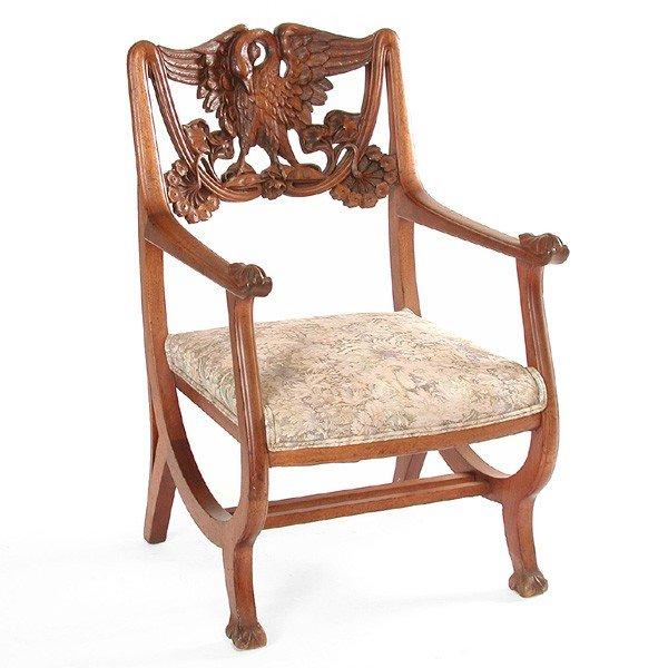 3: Art Nouveau Arm Chair, mahogany