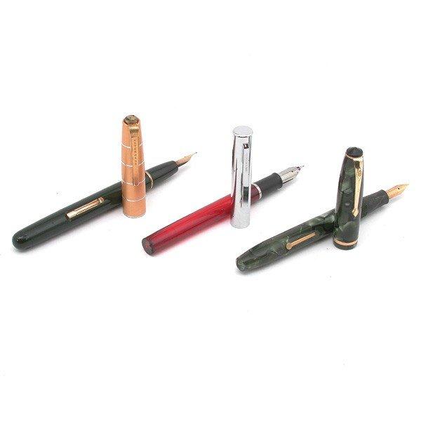 12: Three Fountain Pens, Stewart, Waterman, Sheaffer