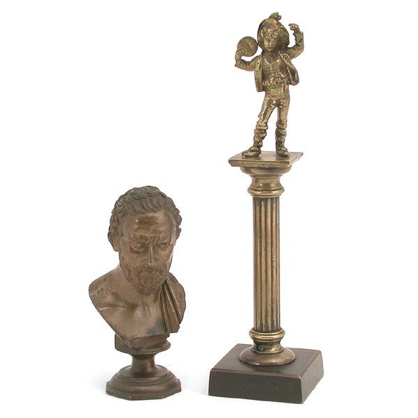 22: Lot of Two (2) Bronzes, 19th century