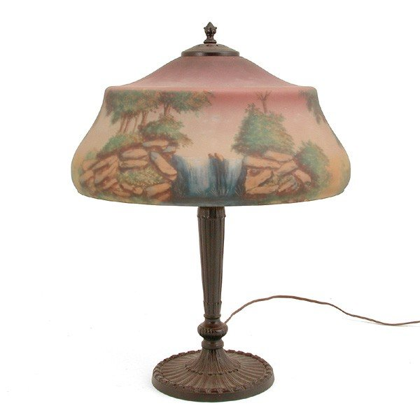 23: Pittsburgh Table Lamp, Reverse Painted