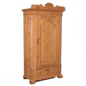 Pine Single Door Wardrobe, 19th Century