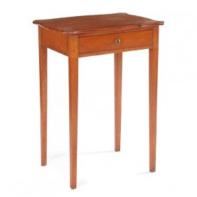 American Cherry Work Table, Early 19th Century
