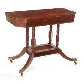 Tea Table, 19th Century Mahogany