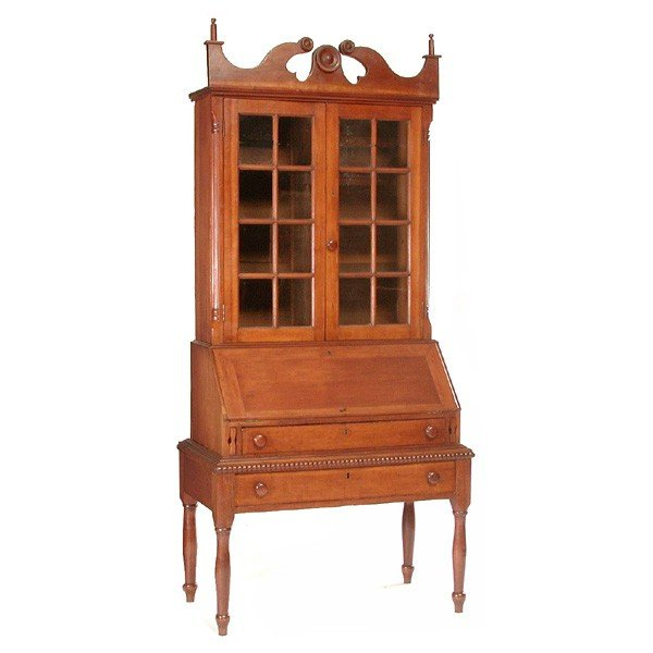 125: American Cherry Drop Front Desk, 19th century