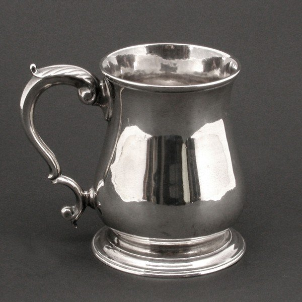 133: Sterling Silver Tankard, 19th century English