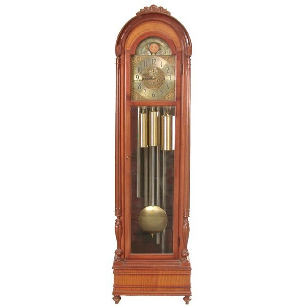 7: Herschede Tall Clock, Mahogany Case