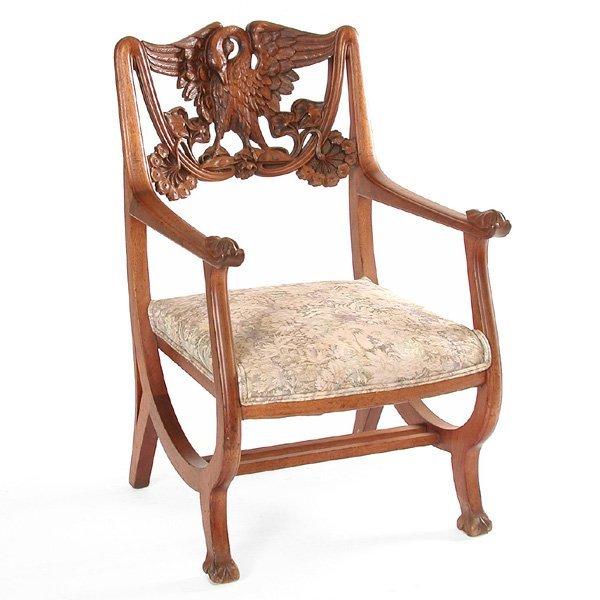 12: Art Nouveau Arm Chair, Mahogany