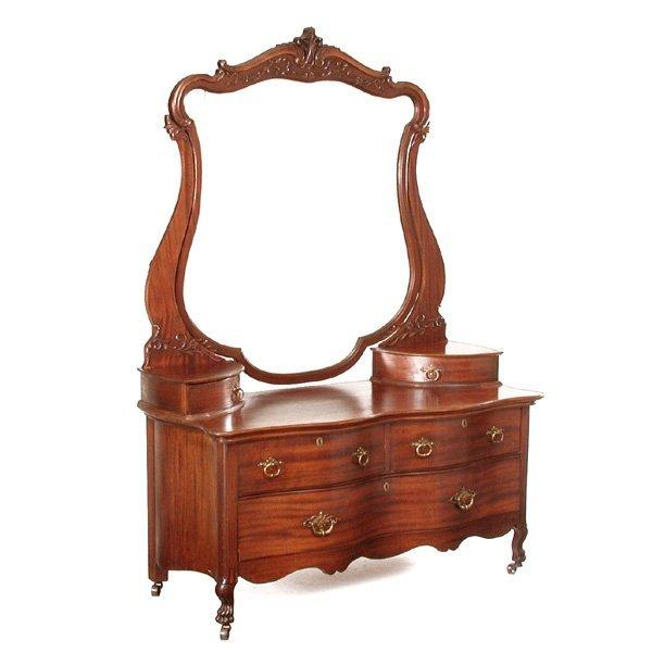 13: Art Nouveau Mahogany Dresser