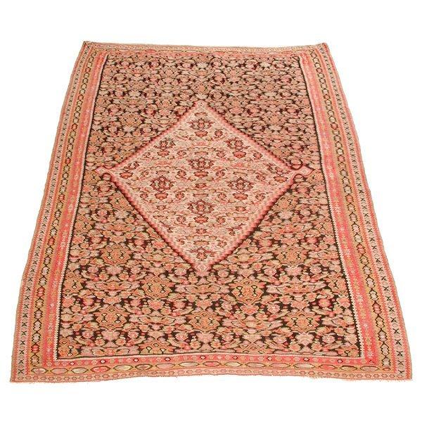 """15: Antique Flat Weave Carpet, 6'5"""" x 4'3"""""""