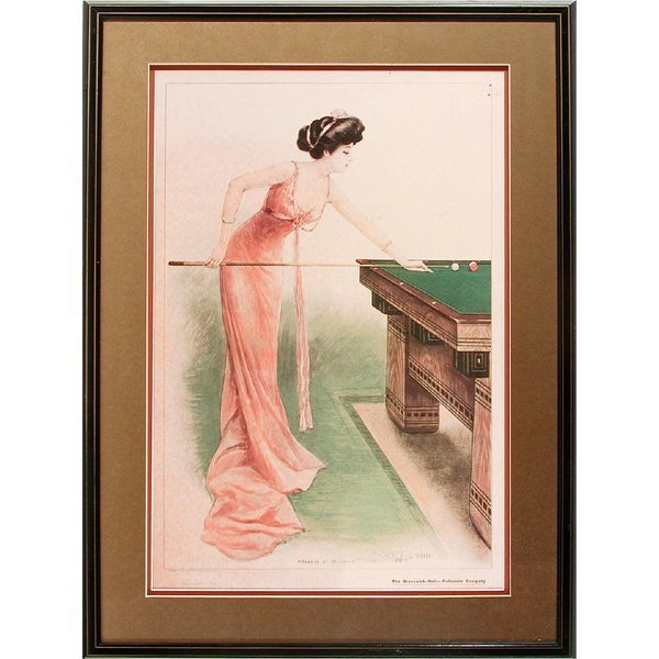 "20: Archie Gunn Framed Print, ""Beauty of Billiards"""