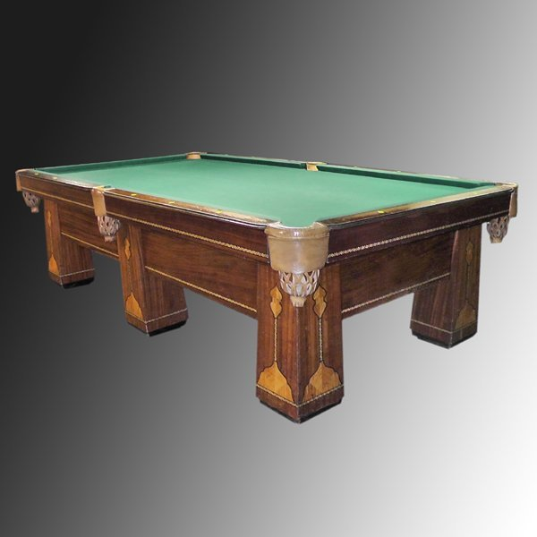 21: 1928 Brunswick Royal 6 Leg Pool Table