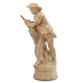 American Ceramic Figure Of A Man Haying
