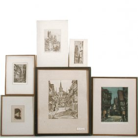 Various Artists, Prints (6), City Scenes And Portr