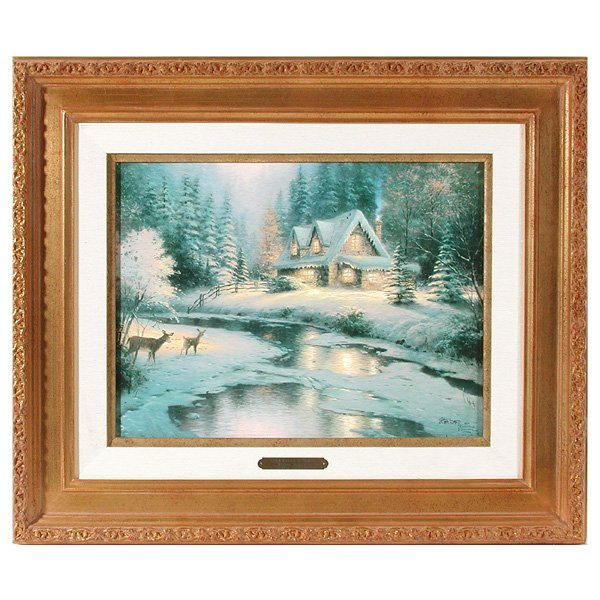 """261: Thomas Kinkade S/N, """"Deer Creek Cottage"""""""