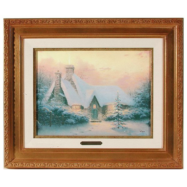 "262: Thomas Kinkade S/N, ""Christmas Tree Cottage"""