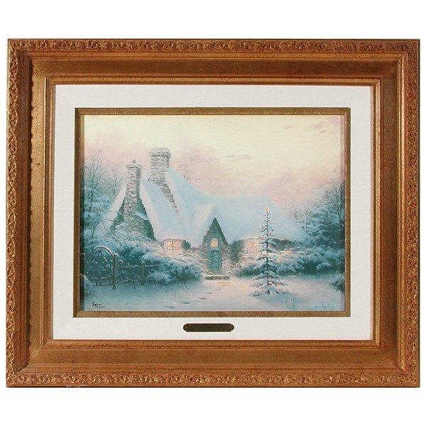 "263: Thomas Kinkade S/N, ""Christmas Tree Cottage"""
