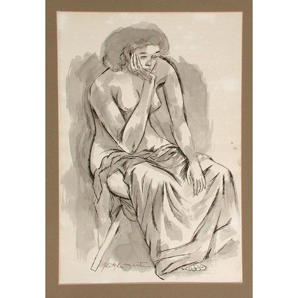265: Fletcher Martin Drawing, Nude Woman