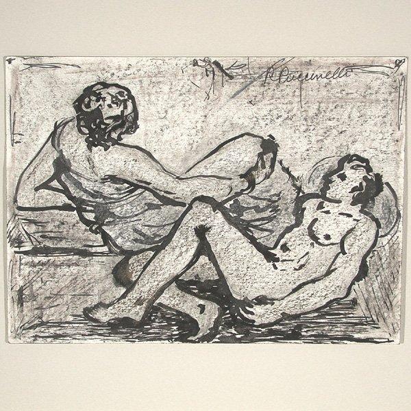 267: Raimondo Puccinelli Drawing, Nudes