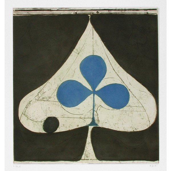 "268: Richard Diebenkorn Aquatint, ""Blue Club"""