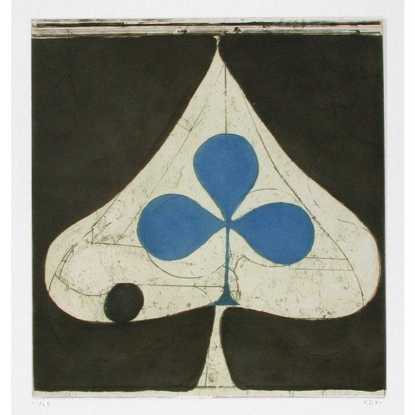 "268: Richard Diebenkorn Aquatint, ""Blue Club"""