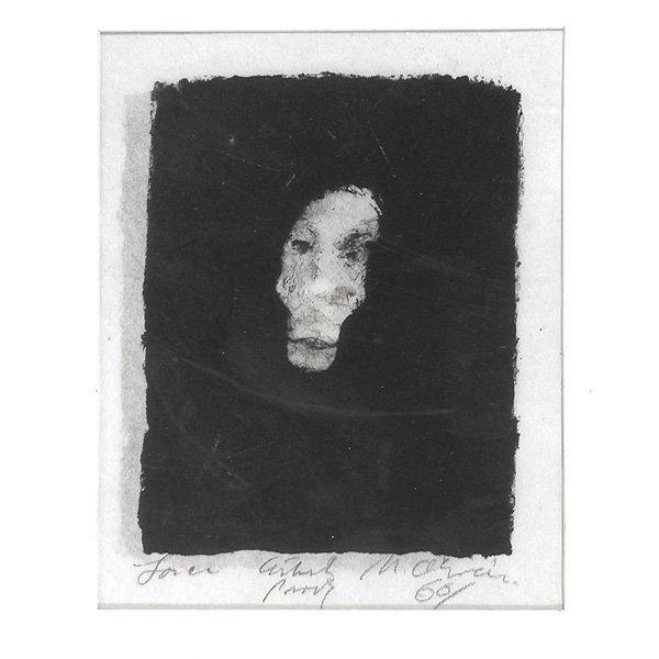 "272: Nathan Oliveira Lithograph, ""Face"""