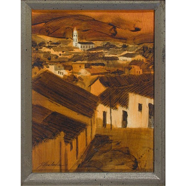 273: Edward Diffenderfer Painting, Rooftops