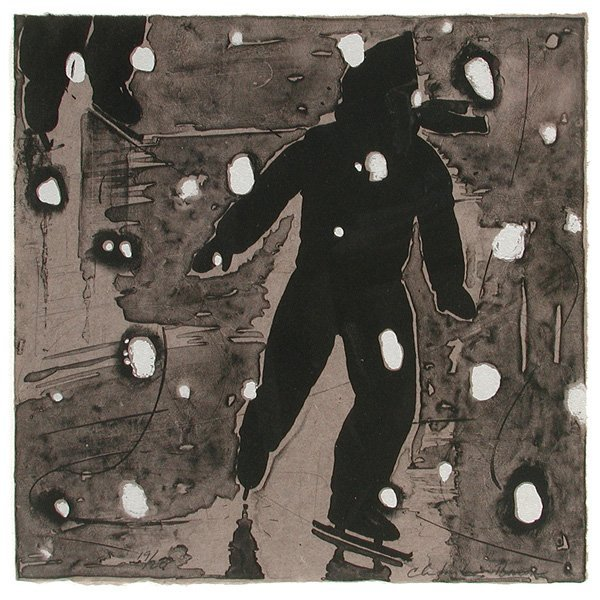 """280: Christopher Brown Lithograph, """"Black Ice"""""""