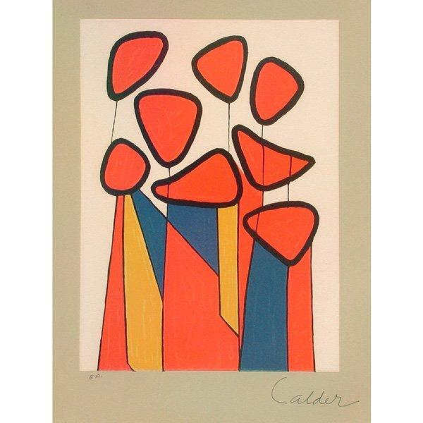 """284: Alexander Calder Lithograph, """"Flowers"""""""