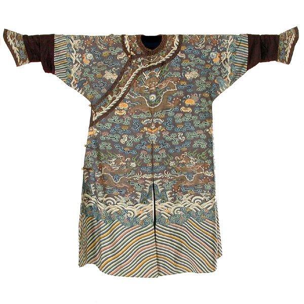 424: Imperial Chinese Kesi Robe, 19th century