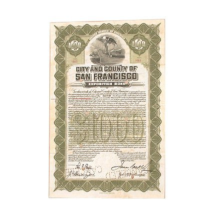 1: Bond, San Francisco, Panama-Pacific Exposition