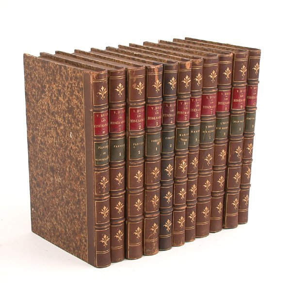 4: V. Hugo, Les Miserables, 10 Vols, Photographie Ed.