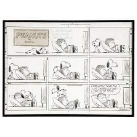 247: Charles Schulz Peanuts Original Sunday Strip Art.