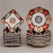 372: 2 Sets of Japanese Imari Plates, 18 count