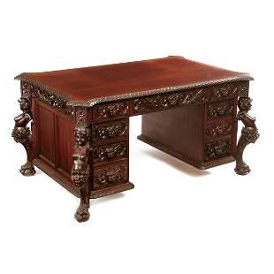 R.J. Horner & Co Partners Desk, 19th c