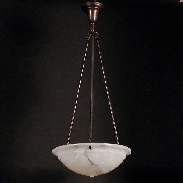 5: Alabaster Inverted Bowl Chandelier
