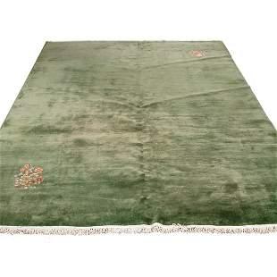 """Chinese Nichols Style Carpet, 13' 8"""" x 9' 9"""""""