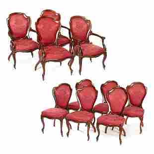 10 John Henry Belter Rosewood Chairs