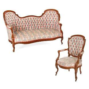 American New Orleans Rosewood Parlor Set