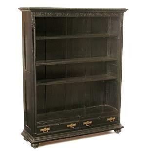 Victorian Ebonized Bookcase